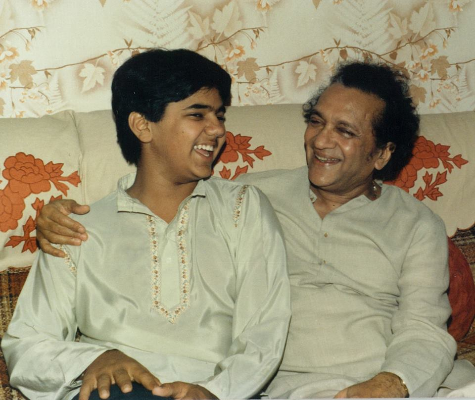 Young Aditya with Pandit Ravi Shankar